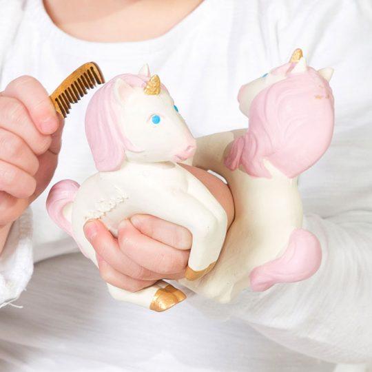 Brazalete-mordedor de caucho - Stacy the Unicorn -