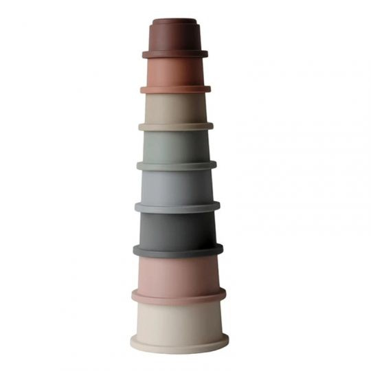Cubos apilables Mushie -varios colores-